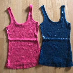 2 for 1 express sequin tank top
